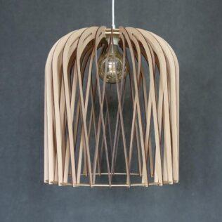 handmade wooden lamp